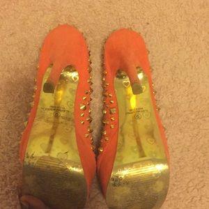 Alba Shoes - Alba coral studded stilettos